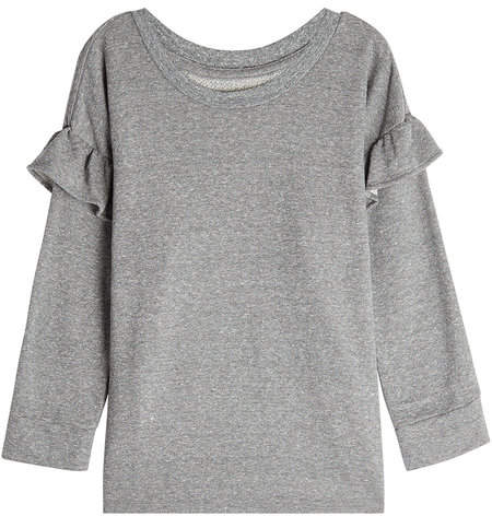 Current/Elliott Sweatshirt with Ruffled Trims