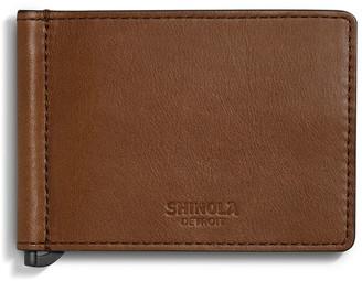 Shinola Men's Bifold Leather Wallet with Money Clip