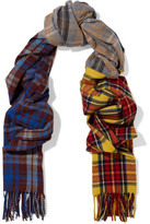 Acne Studios Vona Tartan Wool Scarf
