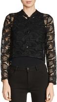 Maje Volta Cropped Lace Jacket