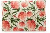 Pink Haley Floral Straw Clutch