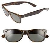 Ray-Ban Women's 'New Small Wayfarer' 52Mm Polarized Sunglasses - Tortoise