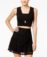 As U Wish Juniors' 2-Pc. Lace A-Line Dress