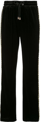 Emporio Armani textured glitter detail track pants