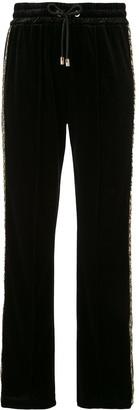 Emporio Armani Textured Glitter Detail Track Pants