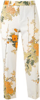 Pt01 floral-print cropped trousers - women - Polyester/Spandex/Elastane - 38