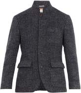 Brunello Cucinelli Single-breasted checked wool-blend blazer