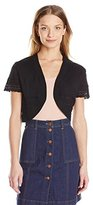 Robbie Bee Women's Missy Short Sleeve Shrug
