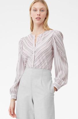 Rebecca Taylor Tailored Juniper Stripe Top