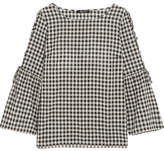 Madewell Tie-detailed Gingham Cotton Top - Black