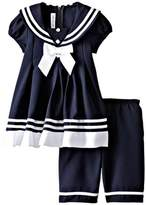 Bonnie Jean Little Girls' Sailor Capri Set (3-6 Months)