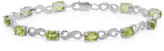 Ice 6 CT TW Peridot and Diamond Sterling Silver Tennis Bracelet