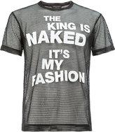 Comme des Garcons sheer slogan print T-shirt