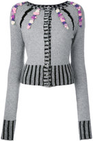 Olympia Le-Tan cashmere Rebecca embroidered cardigan - women - Cashmere - S