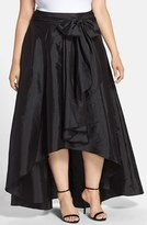 Adrianna Papell Plus Size Women's High/low Taffeta Skirt