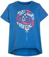 Benetton Print Tshirt blue