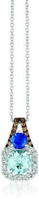 LeVian Le Vian 14K Vanilla Gold 1.77 Ct. Tw. Diamond & Gemstone Pendant Necklace