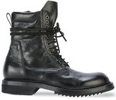 Rick Owens low Army boots - men - Leather/rubber - 41