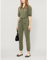 Paige Mayslie stretch cotton-blend jumpsuit