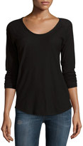James Perse Long-Sleeve Raglan T-Shirt, Black