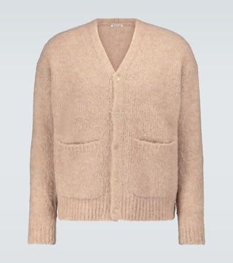 Auralee Alpaca-blend knitted cardigan
