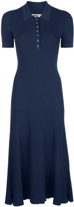 Jason Wu Collared Fine-Knit Midi Dress