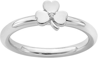 Simply Stacks Sterling Clover Ring