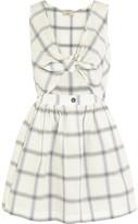 MAISON KITSUNÉ Liba knotted-front checked cotton-poplin mini dress
