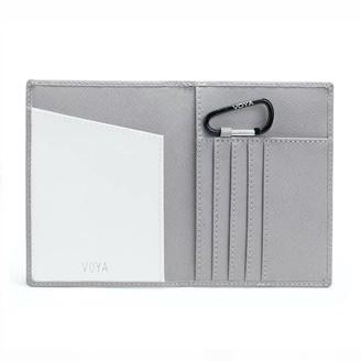 Voya Leather Passport Holder White
