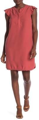 Susina Flutter Cap Sleeve Henley Dress (Regular & Petite)