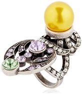 Mawi Crystal & Imitation Pearl Ring