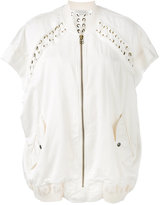 Faith Connexion oversized lace bomber jacket - women - Silk/Cotton - XS