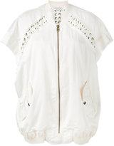Faith Connexion oversized lace bomber jacket