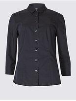 M&S Collection Cotton Rich No Peep Shirt