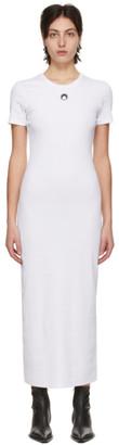 Marine Serre White Cocoon T-Shirt Dress