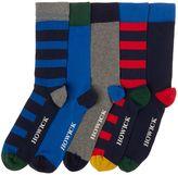 Howick 5 Pack Striped Socks