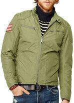 Denim & Supply Ralph Lauren Wax Nylon Moto Jacket