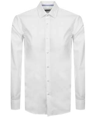 HUGO BOSS Boss Business Long Sleeved Jesse Shirt White