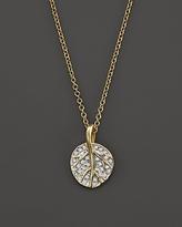 Michael Aram 18K Yellow Gold Botanical Leaf Pendant Necklace with Diamonds, 18