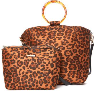 Shiraleah Dani Top Handle Tote Bag Brown Multi 1 Size