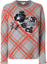 Kenzo checkered sweater with logo - women - Polyamide/Viscose/Wool - XS