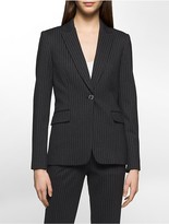 Calvin Klein Heathered Pinstripe Suit Jacket