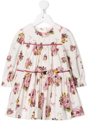 MonnaLisa gathered floral dress