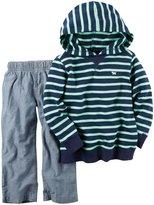 Carter's 2 Piece Denim Pant Set - Stripe - 2T