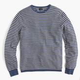 J.Crew Cotton-cashmere piqué crewneck sweater in stripe