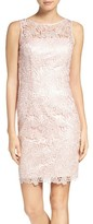 Adrianna Papell Petite Women's Lace Sheath Dress