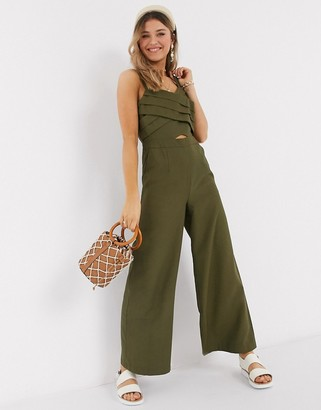 Moon River jumpsuit in olive