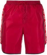Gucci logo stripe swim shorts