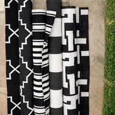 Riviera Stripe Indoor/Outdoor Rug, Black