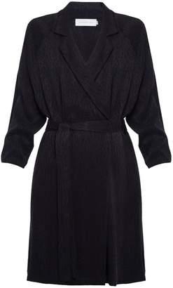 Undress Luca Black Leopard Print Mini Blazer Dress With Raglan Sleeves